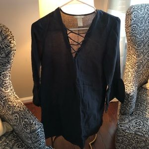 HM criss cross tunic dress